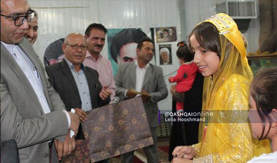 تجلیل از نخبگان یتیم قشقایی در صدرای شیراز