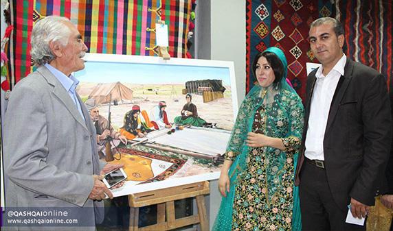 گزارش تصویری از افتتاحیه نمایشگاه نقاشی زینب رستمی در شیراز